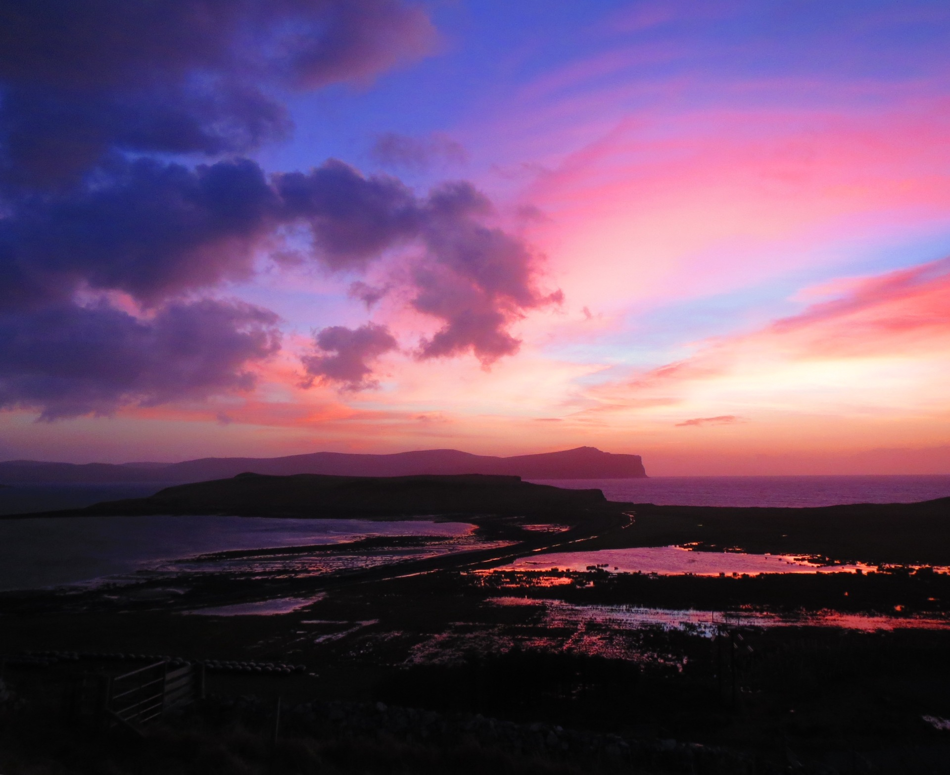 Pink reflections over Ardmore
