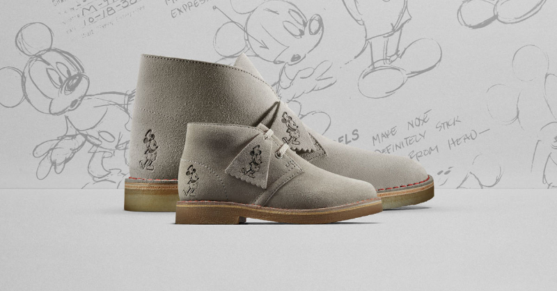 Clarks Originals Celebrates Mickey's 90th with their With Classic Desert Boot