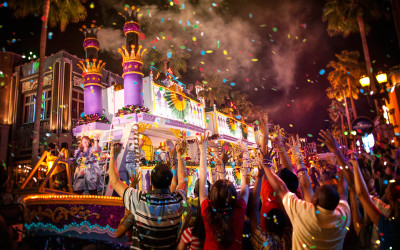 Sneak Peek at New Parade Floats for Universal Mardi Gras