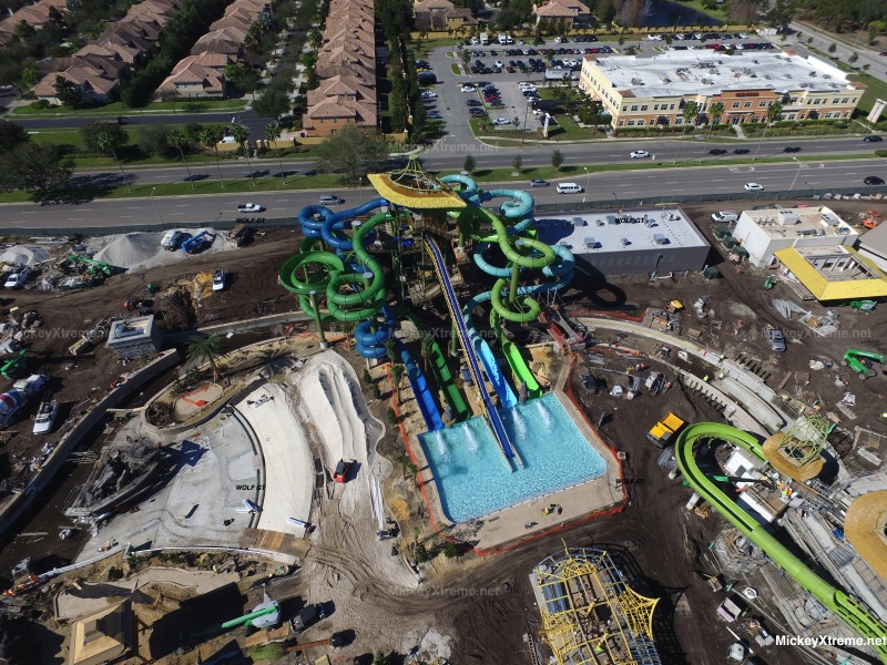 New Aerials of Volcano Bay Water Park