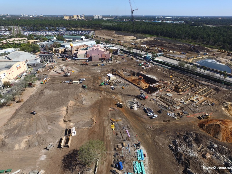 New Aerials of Star Wars and Toy Story Land from Hollywood Studios