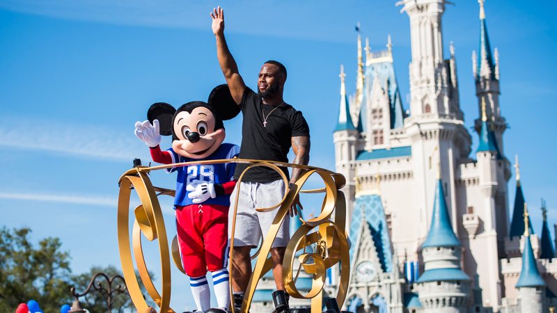 Super Bowl Hero James White at Walt Disney World Celebration