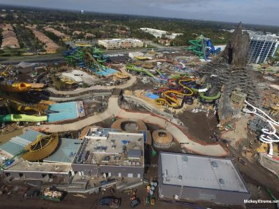 Latest Aerials of Volcano Bay at Universal Orlando