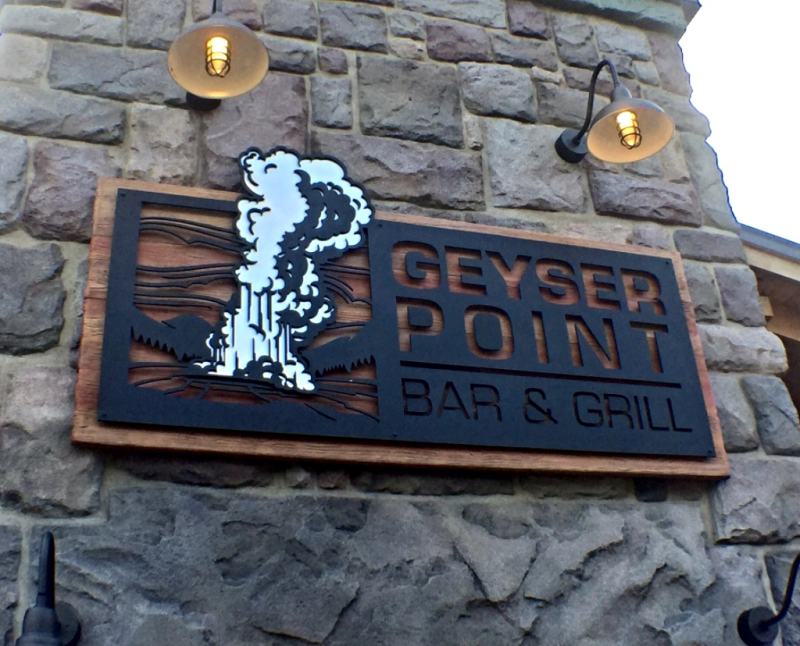 Welcome Addition to Wilderness Lodge 'Geyser Point' Bar & Grill now Open