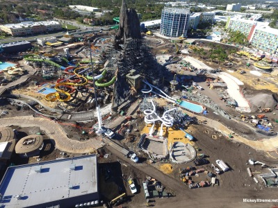 New Aerials of Universal Orlando's Volcano Bay Water Park