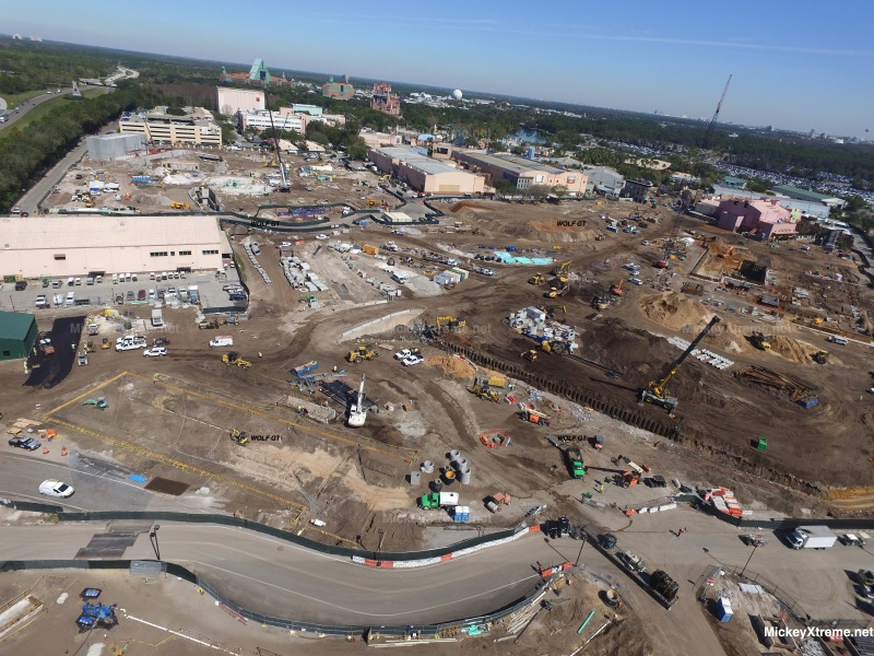 New Aerials of Star Wars and Toy Story Lands Show First Slink Coaster Track