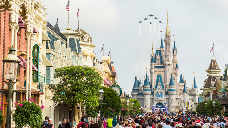 U.S. Navy Blue Angels to Fly Over Magic Kingdom