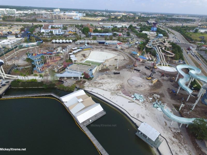 Demolition Continues at former Wet n' Wild Orlando