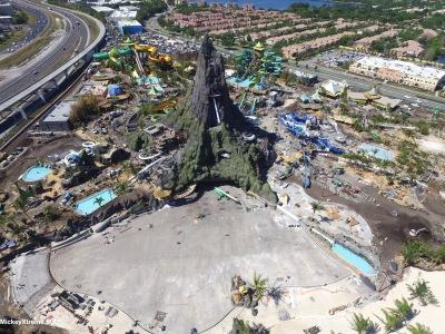 New Universal Orlando's Volcano Bay Aerials
