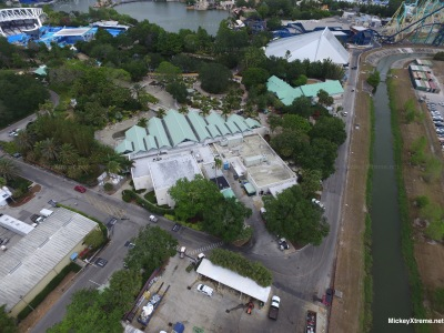 SeaWorld Aerials of Infinity Falls and Kraken Unleashed