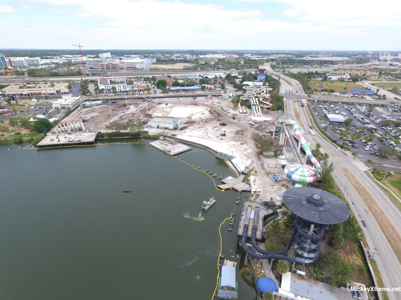 Wet n Wild Demolition Aerials Show Rapid Clearance of Property