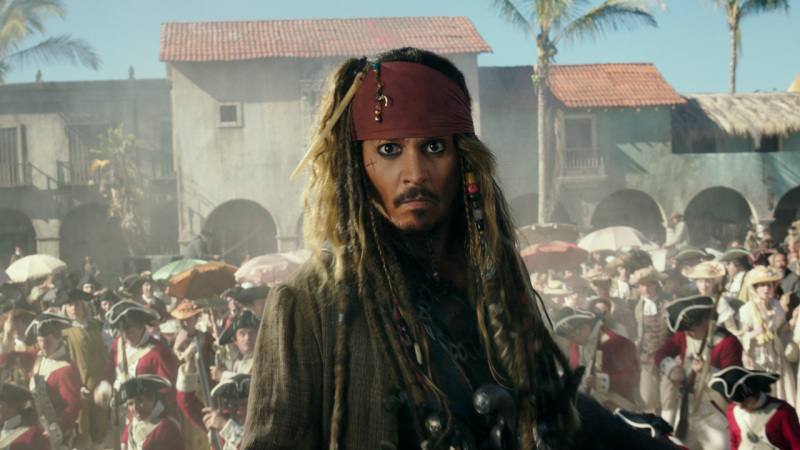 Johnny Depp Surprises Guests as Captain Jack Sparrow in Pirates of the Caribbean Attraction at Disne