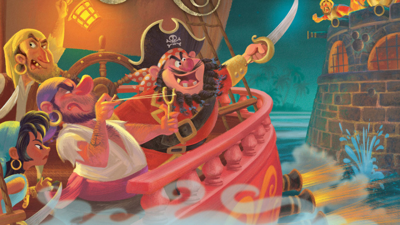 Pirates of the Caribbean Attraction Picture Book and CD Makes Landfall at Disney Parks