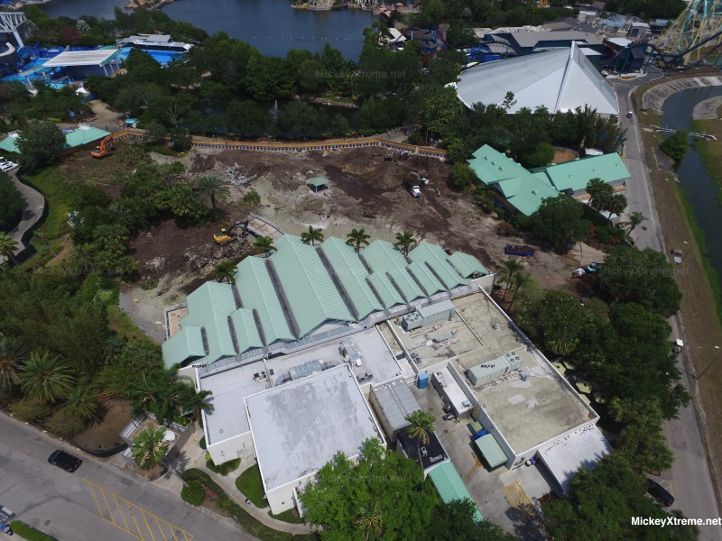 New SeaWorld Aerials of Future Infinity Falls Area