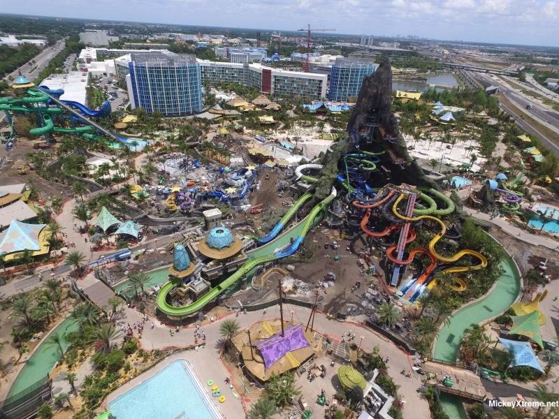 Twelve New Universal Orlando's Volcano Bay Aerials