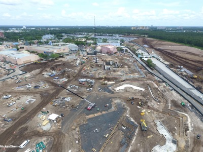 New aerials of Star Wars and Toy Story Lands at Hollywood Studios