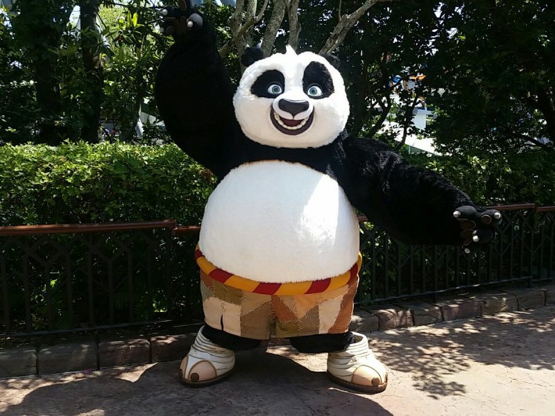 Meet Po from Kung Fu Panda at Islands of Adventure