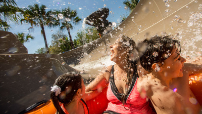Slide Through Miss Adventure Falls at Disney's Typhoon Lagoon
