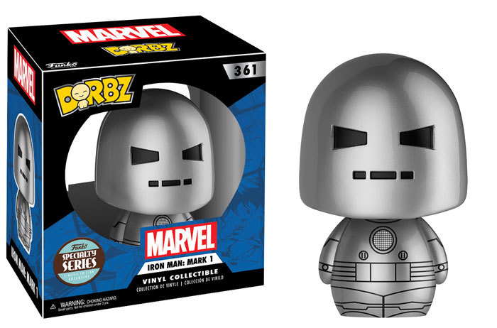 Exclusive Series Man at Arms Pop! and Iron Man: Mark 1 Dorbz!