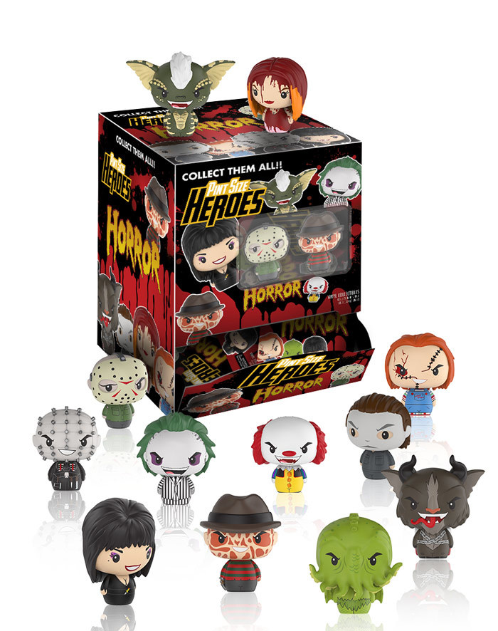 Coming Soon: Horror Pint Size Heroes! and Elvira Rock Candy