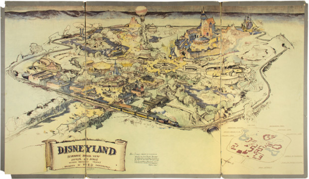 Walt Disney's Original Map of Disneyland Sells for $708,000