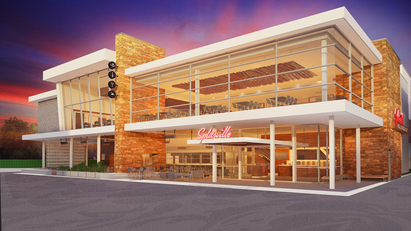 Splitsville Luxury Lanes Taking Shape in Downtown Disney District
