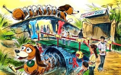 Slinky Dog Dash Coaster Cars have been Spotted