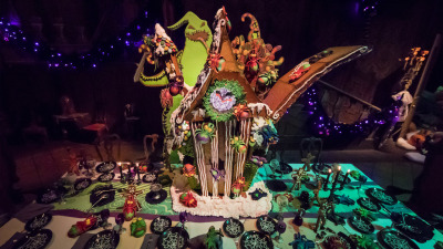 First Look at the Haunted Mansion Holiday Gingerbread House at Disneyland