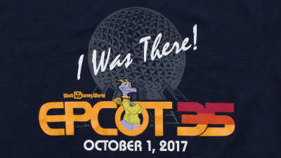Epcot 35th Anniversary  'I Was There' Merchandise on October 1