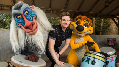 Chris Colfer Eats to the Beat with 'The Chew' at Epcot International Food and Wine Festival