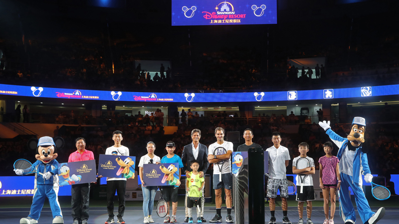 Mickey and Goofy Take on Tennis Stars at Shanghai Rolex Masters Family Day