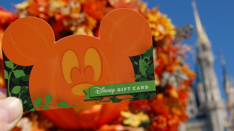 New Disney Gift Card Designs to 'Fall' in Love With!