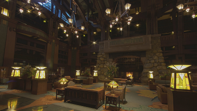 Grand Hall Lobby at Disney's Grand Californian Hotel & Spa at the Disneyland Resort