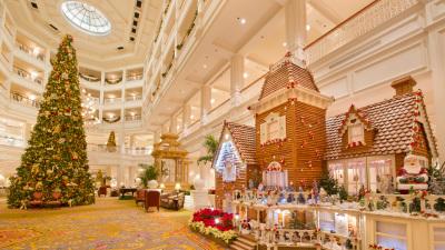 Gingerbread Displays Decorate the Walt Disney World Resort