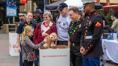 Donate to Toys for Tots at Downtown Disney District, Dec. 2 and 3, at Disneyland Resort