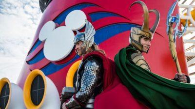 Loki Makes His Debut Alongside Thor at Marvel Day at Sea