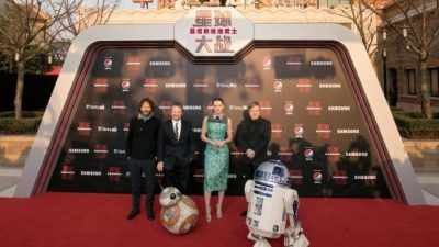 Star Wars: The Last Jedi Premieres in China at Shanghai Disney Resort
