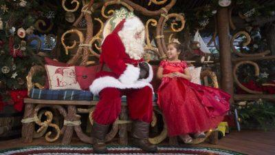 Visiting Santa at Redwood Creek Challenge Trail in Disney California Adventure