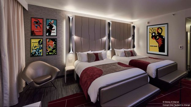 Inside Disney's Hotel New York – The Art of Marvel Resort Room At Disneyland Paris