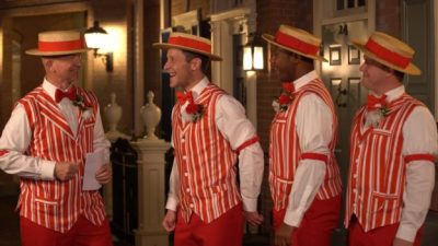 The Dapper Dans Deliver A 'Singing Villaintine' to the Haunted Mansion