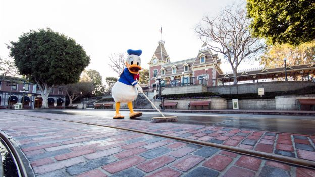 New Track and Brickwork Revealed on Main Street, U.S.A., at Disneyland