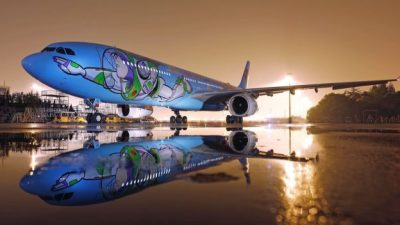 Plane Themed to Shanghai Disneyland's Disney·Pixar Toy Story Land
