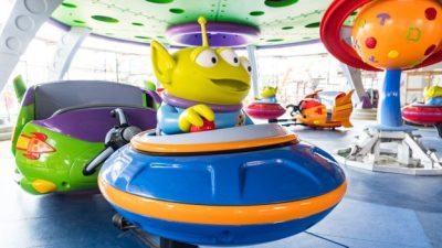 Alien Swirling Saucers at Toy Story Land