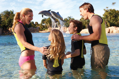 Visiting Discovery Cove with Children