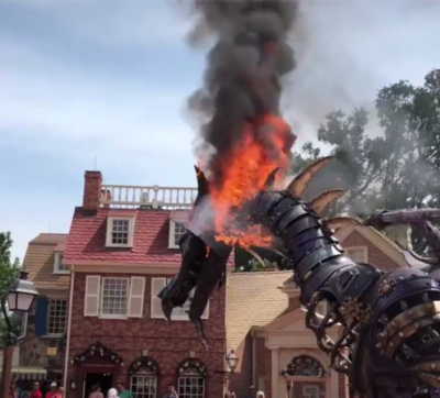 Maleficent's Dragon Float Catches Fire at Magic Kingdom