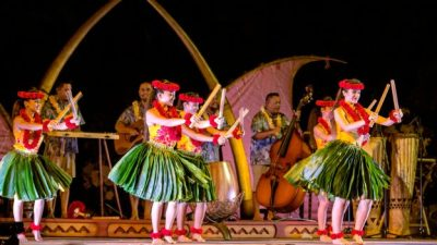 Celebrating KA WA'A Lu'au at Aulani