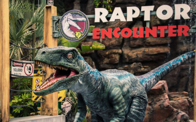 Blue from Jurassic World Now at Raptor Encounter