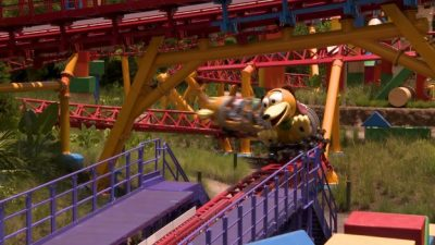 Cast Members Enjoy an Early 'First-Ride' on Slinky Dog Dash