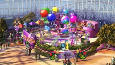 Inside Out Emotional Whirlwind to Open in 2019 at Pixar Pier