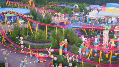 Aerial Footage of Toy Story Land in Disney's Hollywood Studios